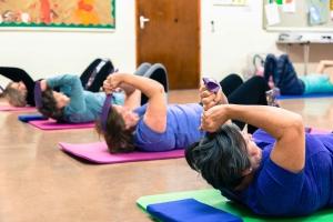 Pilates ab prep with flexband